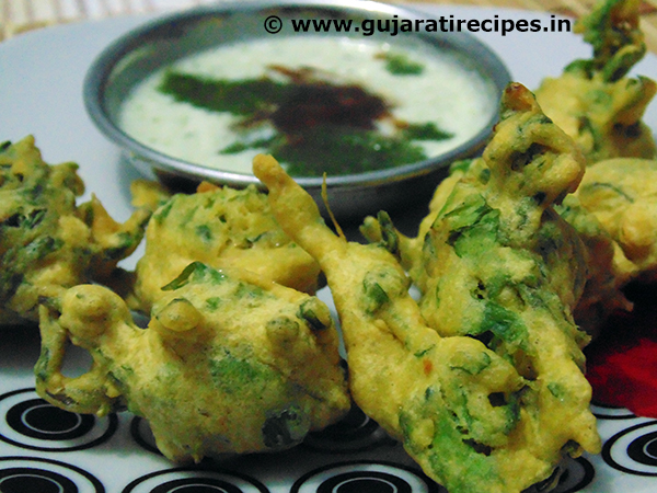 Methi Na Bhajiya (Fulwadi Bhajiya) • Gujarati Recipes Green Tea Leaves