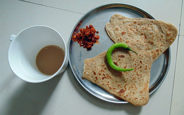 Plain Paratha (whole Wheat Flat Bread)