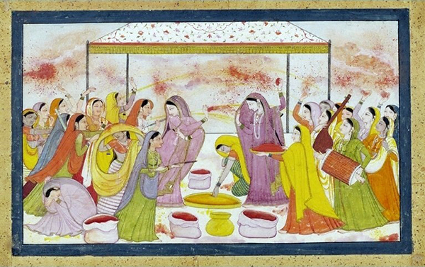 Radha celebrating Holi